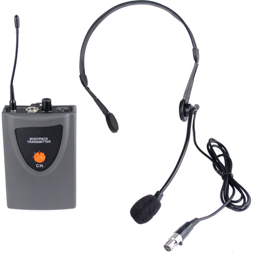 AmpliVox Sound Systems Bodypack Transmitter and Headset Microphone for SW300 Mity-Lite Portable PA