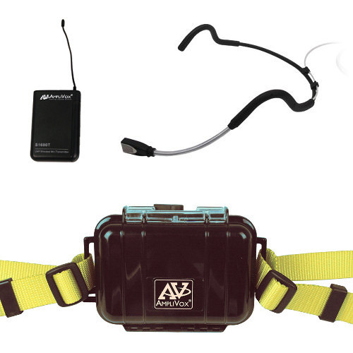 AmpliVox Sound Systems Waterproof Fitness Package with Transmitter