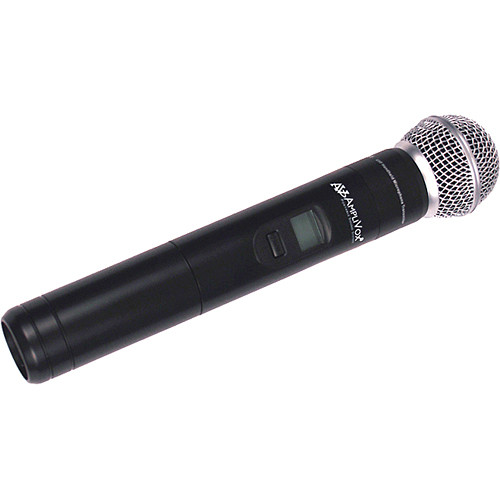 AmpliVox Sound Systems S1695 UHF-Wireless Handheld Mic with Built-In 16-Channel Transmitter (584 to 608 MHz)