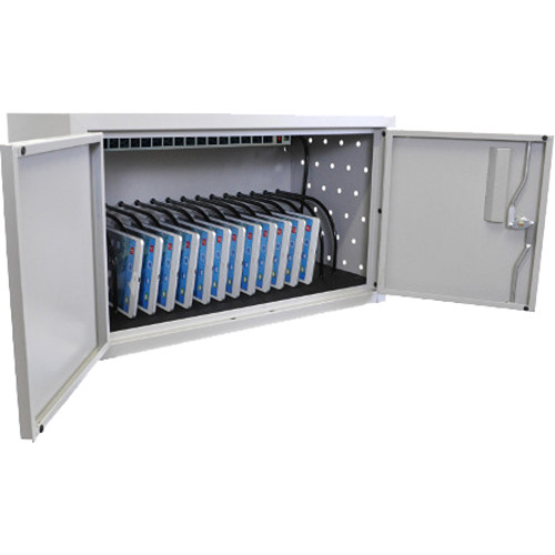 AmpliVox Sound Systems 16-Space, Double-Door Charging Cabinet for Tablets