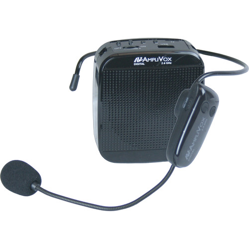 AmpliVox Sound Systems S208 2.4 GHz Digital BeltBlaster Wireless Amplification System with Headset Mic