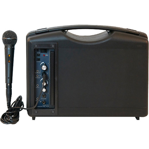 AmpliVox Sound Systems S222A Portable Bluetooth-Enabled PA System with Dynamic Microphone