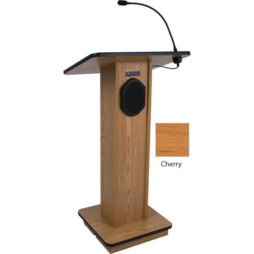 AmpliVox Sound Systems Elegant Wood Elite Lectern with Sound System (Cherry)