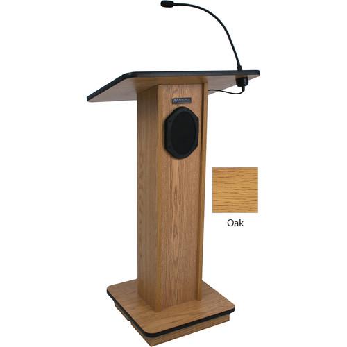 AmpliVox Sound Systems Elegant Wood Elite Lectern with Sound System (Oak)