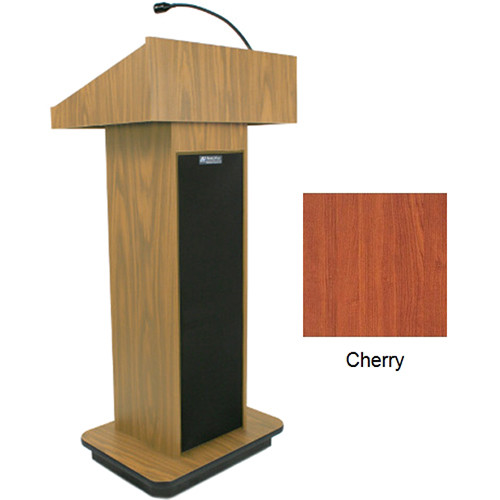 AmpliVox Sound Systems Executive Sound Column Lectern (Cherry)