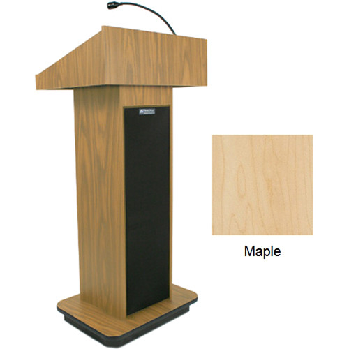 AmpliVox Sound Systems Executive Sound Column Lectern (Maple)