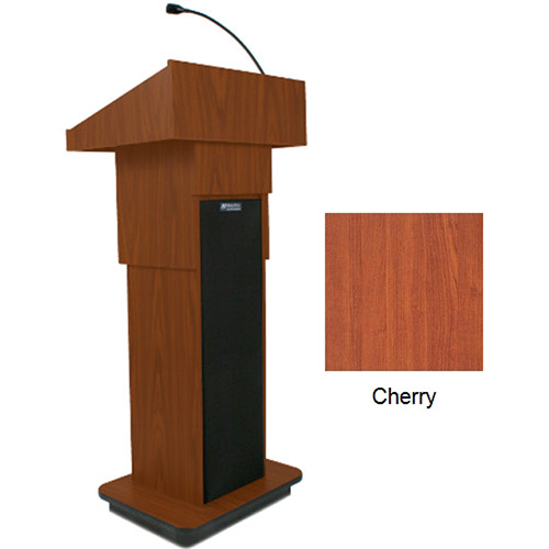 AmpliVox Sound Systems Executive Adjustable Column Sound Lectern (Cherry)