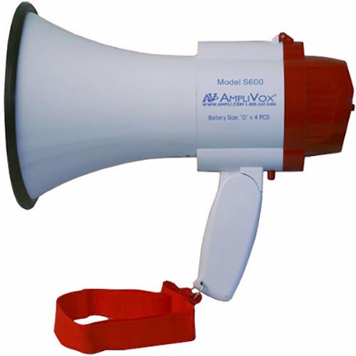 AmpliVox Sound Systems S600R Mini-Meg 10W Rechargeable-Ready Megaphone