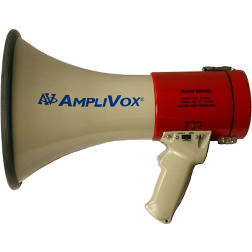 AmpliVox Sound Systems Rechargeable 25W Megaphone with Siren