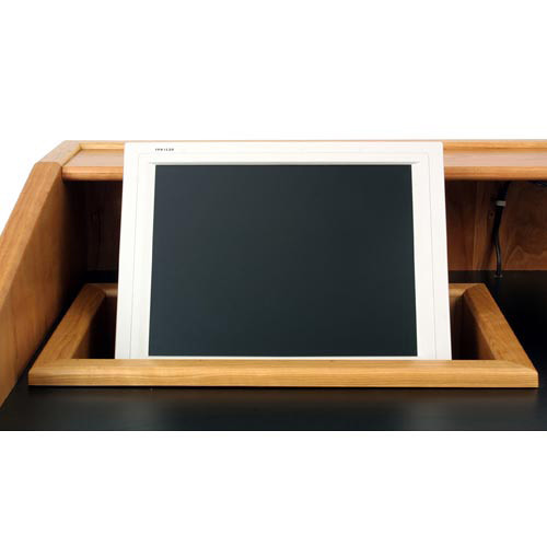 """AmpliVox Sound Systems Recessed 18"""" Monitor Well for SW3030 Solid Hardwood Lectern"""