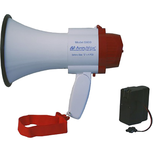 AmpliVox Sound Systems S600R Mini-Meg 10W Megaphone with S1402 Rechargeable Battery Pack
