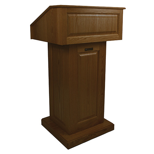 AmpliVox Sound Systems Victoria Lectern (Non-Sound, Walnut)