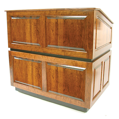 AmpliVox Sound Systems Ambassador Lectern (No Sound, Natural Oak)
