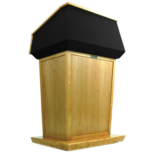 AmpliVox Sound Systems Patriot Lectern (Non-Sound, Maple with Black Canvas Accent)