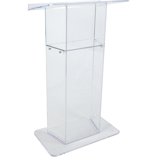 AmpliVox Sound Systems Clear Acrylic Lectern