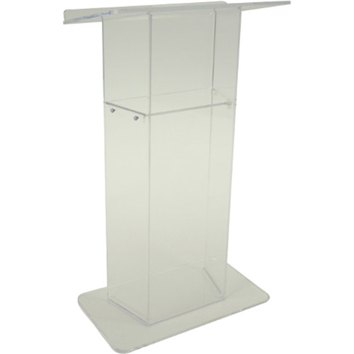AmpliVox Sound Systems Frosted Acrylic Lectern