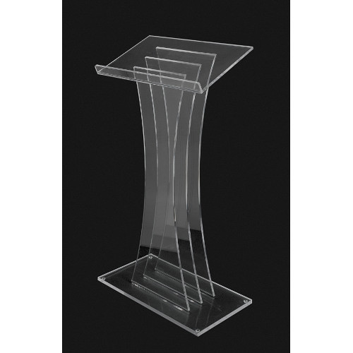 AmpliVox Sound Systems Contemporary Clear Acrylic Lectern