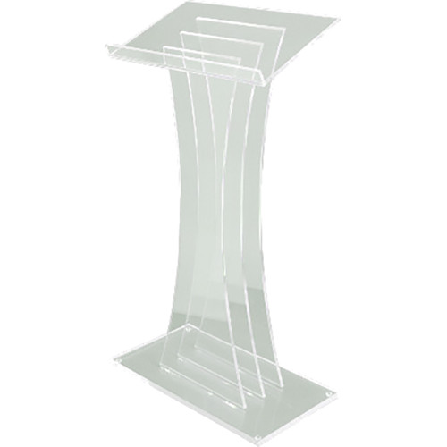 AmpliVox Sound Systems Contemporary Frosted Acrylic Lectern