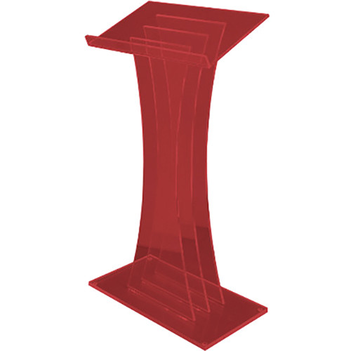AmpliVox Sound Systems Contemporary Custom Tint Acrylic Lectern