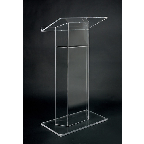 AmpliVox Sound Systems Traditional RTA Clear Acrylic Lectern