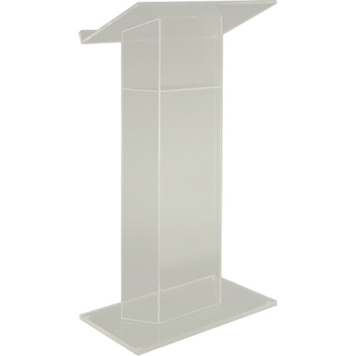 AmpliVox Sound Systems Traditional RTA Frosted Acrylic Lectern