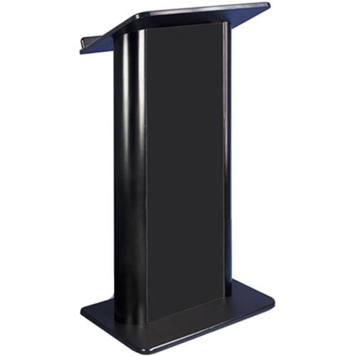 AmpliVox Sound Systems Flat Black Panel Lectern