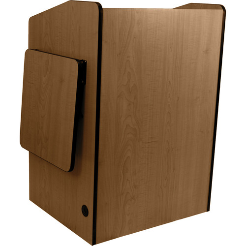 AmpliVox Sound Systems SN3235-WN Wireless Multimedia Presentation Podium (Walnut)