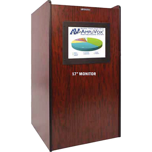 AmpliVox Sound Systems SN3265 Visionary Multimedia Lectern with Built-In LCD Screen
