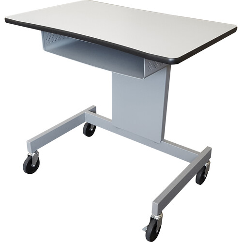 AmpliVox Sound Systems Height Adjustable Lectern/Desk with Storage