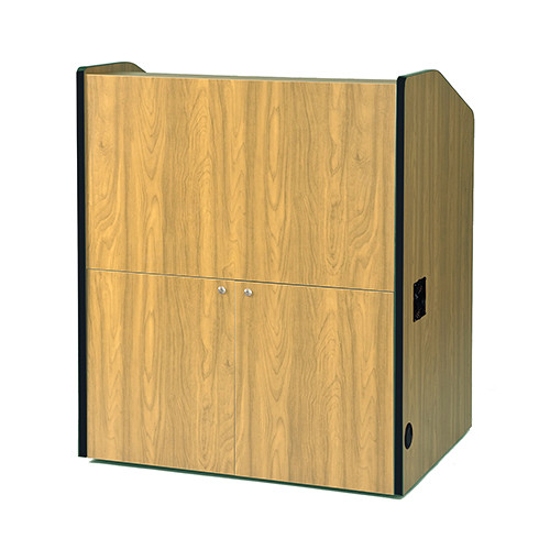 AmpliVox Sound Systems Multimedia Smart Podium (Non-Sound, Maple)