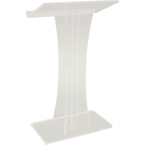 AmpliVox Sound Systems X Frosted Acrylic Floor Lectern