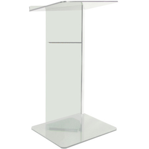"AmpliVox Sound Systems Clear Acrylic V-Design Floor Lectern (27"" Width)"