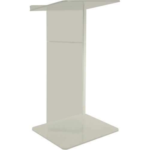 """AmpliVox Sound Systems Frosted Acrylic V-Design Floor Lectern (27"""" Width)"""