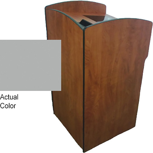 AmpliVox Sound Systems Flash Podium with Rack Box (Gray)