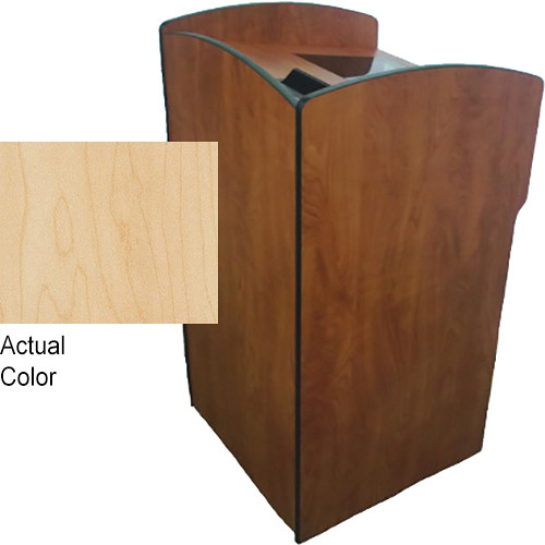 AmpliVox Sound Systems Flash Podium with Viewport (Maple)