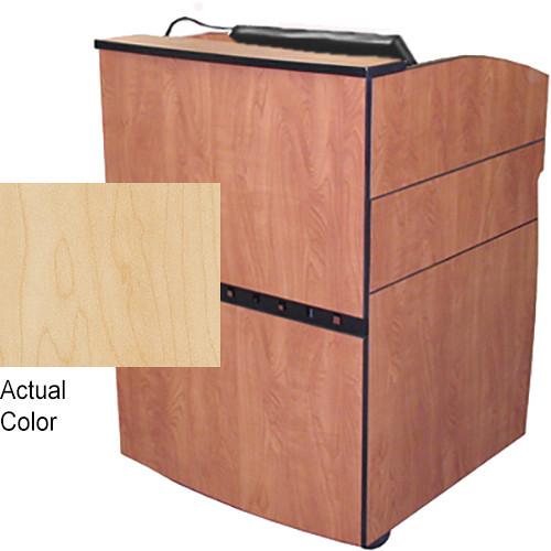 AmpliVox Sound Systems Intellect Lectern with Recessed Well for LCD Display (Maple)