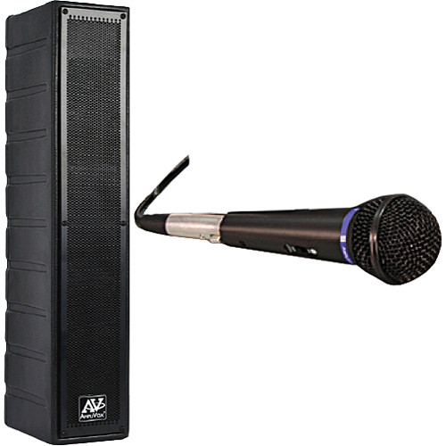 AmpliVox Sound Systems SS1234 50-Watt Powered Line Array Speaker with Wired Microphone