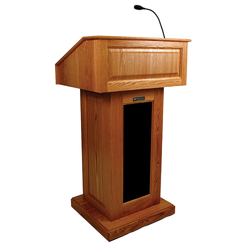 AmpliVox Sound Systems Victoria Lectern with Sound (Cherry)