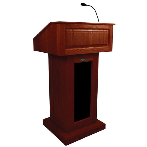 AmpliVox Sound Systems Victoria Lectern with Sound (Mahogany)