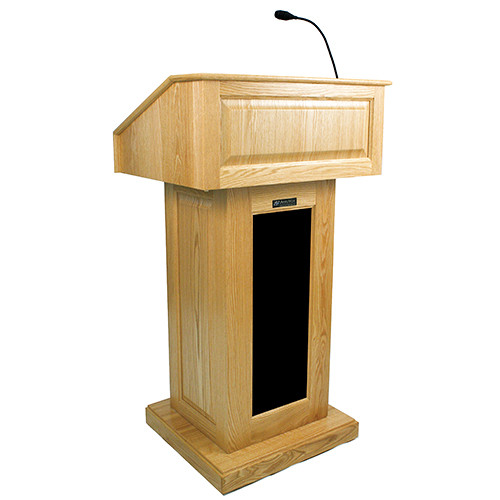 AmpliVox Sound Systems Victoria Lectern with Sound (Maple)