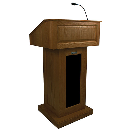 AmpliVox Sound Systems Victoria Lectern with Sound (Walnut)