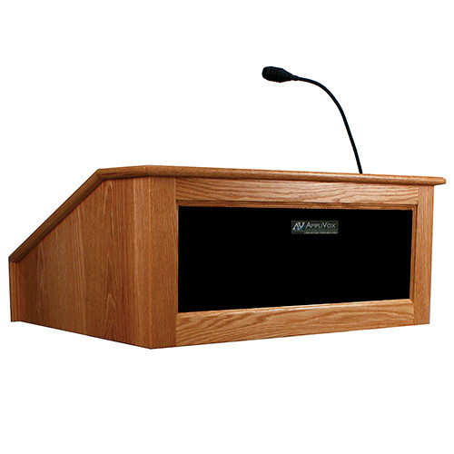 AmpliVox Sound Systems Victoria Tabletop Lectern with Sound System (Cherry)