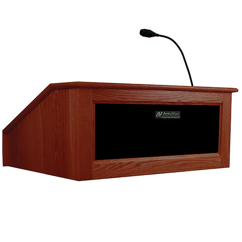 AmpliVox Sound Systems Victoria Tabletop Lectern with Sound System (Mahogany)