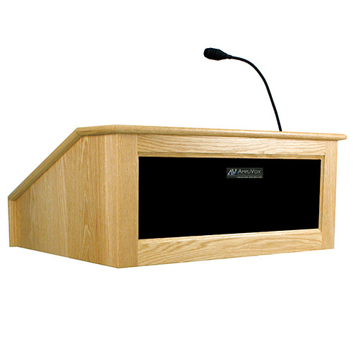 AmpliVox Sound Systems Victoria Tabletop Lectern with Sound System (Maple)