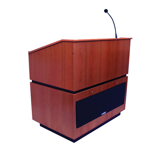 AmpliVox Sound Systems Coventry Lectern with Sound System (Mahogany)