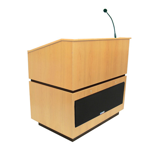 AmpliVox Sound Systems Coventry Lectern with Sound System (Maple)