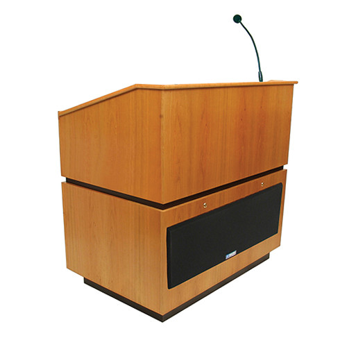 AmpliVox Sound Systems Coventry Lectern with Sound System (Natural Oak)
