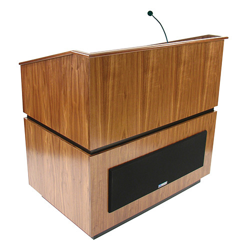 AmpliVox Sound Systems Coventry Lectern with Sound System (Walnut)