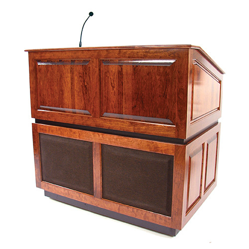AmpliVox Sound Systems Ambassador Lectern with Sound System (Mahogany)