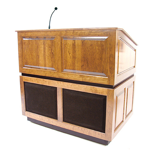 AmpliVox Sound Systems Ambassador Lectern with Sound System (Maple)